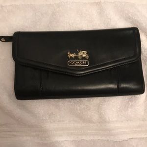 Coach tri fold wallet